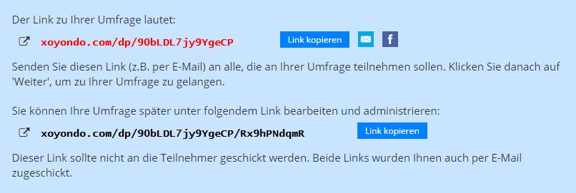 Umfrage-Link-senden