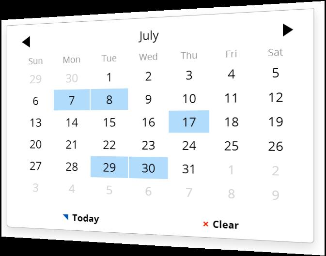 Escolha um data com um plugin do calendário