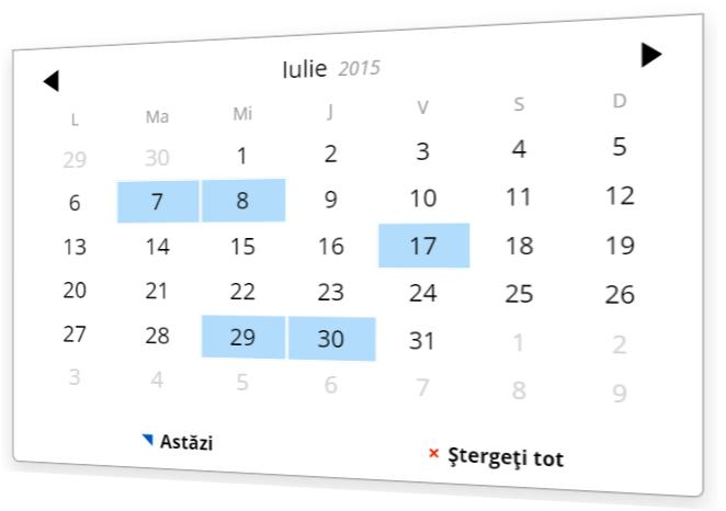 Alegeți o dată cu ajutorul unei unelte de tip calendar.