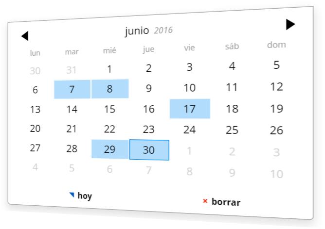 Seleccionar una fecha con el Plugin de calendario